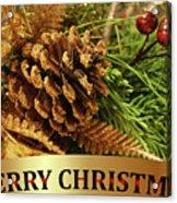 Golden Merry Christmas  Acrylic Print