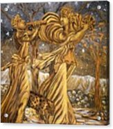 Golden Minstrels. Acrylic Print