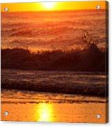 Golden Ocean City Sunrise Acrylic Print