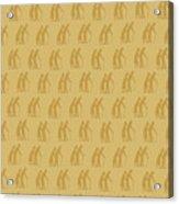 Golden Oldies Wallpaper Acrylic Print