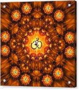 Golden Om Fracdala Acrylic Print