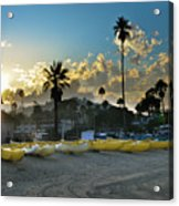 Golden Outriggers Acrylic Print