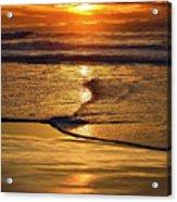 Golden Pacific Sunset Acrylic Print
