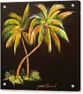 Golden Palms 2 Acrylic Print
