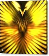 Golden Phoenix Acrylic Print