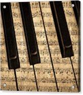 Golden Pianoforte Classic Acrylic Print