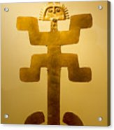 Golden Pre-columbian Figure Acrylic Print