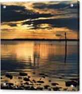 Golden Rays At Sunset Acrylic Print