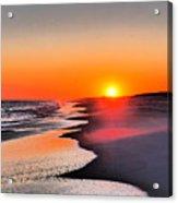 Golden Red Sunset Acrylic Print