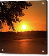 Golden Road Sunrise Acrylic Print