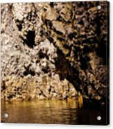 Golden Rocks Acrylic Print