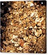 Golden Gravel Acrylic Print