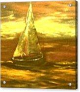 Golden Sailboat Days Acrylic Print