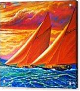 Golden Sails Acrylic Print by Joseph   Ruff