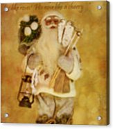 Golden Santa Card 2015 Acrylic Print
