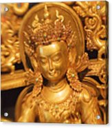Golden Sculpture Acrylic Print