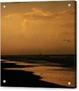 Golden Sea Acrylic Print