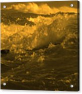 Golden Sea Waves Graphic Digital Poster Art By Navinjoshi At Fineartamerica.com Ideal For Wall Decor Acrylic Print