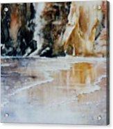 Golden Seascape Acrylic Print