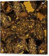 Golden Shimmer Acrylic Print