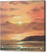 Golden Shoreline Acrylic Print