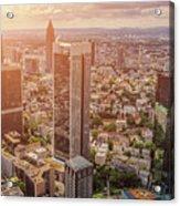Golden Skyscrapers Of Frankfurt Acrylic Print