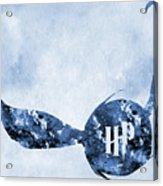 Golden Snitch-blue Acrylic Print