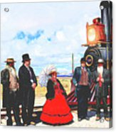 Golden Spike Railroad - Wating - 0749 G Acrylic Print