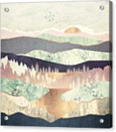 Golden Spring Reflection Acrylic Print