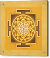 Golden Sri Yantra - The Original Acrylic Print