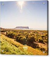 Golden Stanley Landscape Acrylic Print