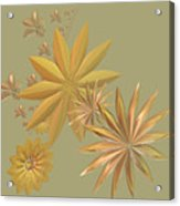 Golden Stars Acrylic Print