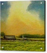 Golden Storm Acrylic Print