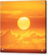 Golden Sunball Acrylic Print
