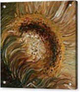 Golden Sunflower Acrylic Print