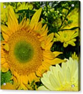 Golden Sunflower Yellow Bouquet By Kaye Menner Acrylic Print