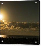 Golden Sunrise Glow Delray Beach Florida Acrylic Print