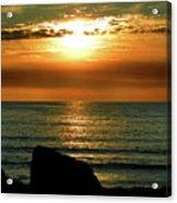 Golden Sunset At The Beach IIi Acrylic Print