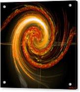 Golden Swirl Acrylic Print