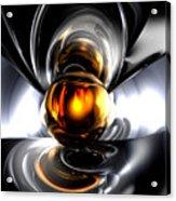 Golden Tears Abstract Acrylic Print