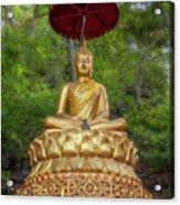 Golden Thai Buddha Acrylic Print