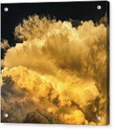 Golden Thunderhead Acrylic Print