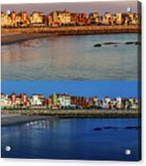 Golden To Blue Hour Puerto Sherry Cadiz Spain Acrylic Print