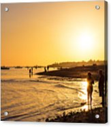Golden Tropics Hot Beach Sun Acrylic Print