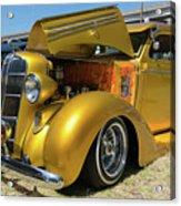 Golden Vintage Dodge Acrylic Print