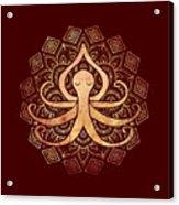 Golden Zen Octopus Meditating Acrylic Print