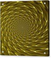 Goldenrod Vortex Acrylic Print