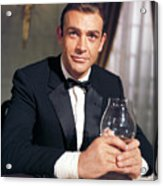 Goldfinger, Sean Connery, 1964 Acrylic Print by Everett