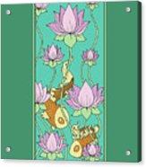 Goldfish And Lotus Acrylic Print