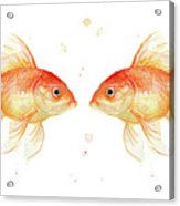 Goldfish Love Watercolor Acrylic Print